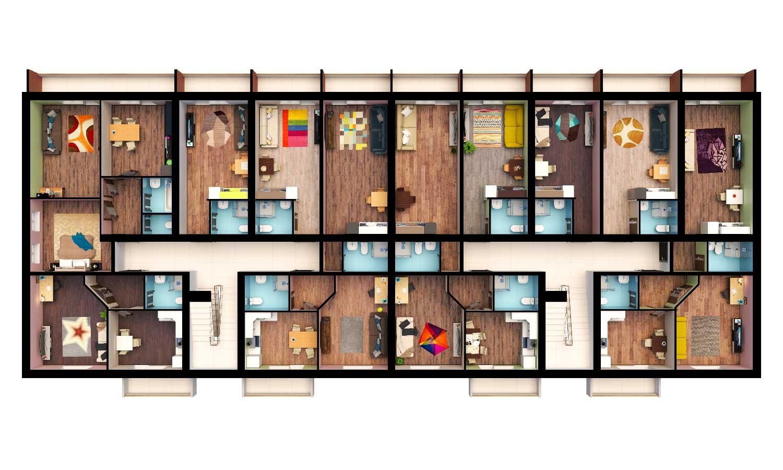 Планирование этажей, Золотая Линия