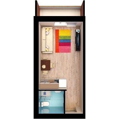 Планировки квартир, студия, Золотая Линия