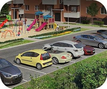 Просторная парковка, РФ, Новая Адыгея, Краснодар, Золотая Линия