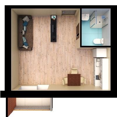 Планировки квартир, студия 2, Золотая Линия